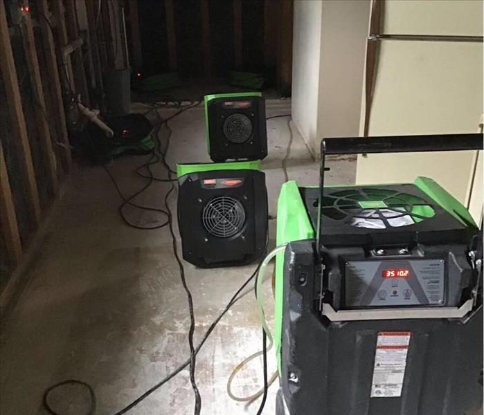 drying floors after water damage